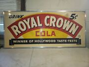 Rare 1941 Royal Crown Cola Advertising Sign 5 Cents Hollywood Taste -test