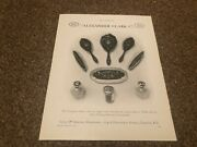 Aabk19 Antiques Advert 11x8 Alexander Clark Co - Inlaid Sterling Silver