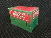 Coca Cola Archives 1932 Glascock Cooler Coke Machine With 2 Flair Glass Box Set