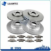 Front And Rear Vented Brake Rotors Ceramic Pads For 2007-2009 Mercedes-benz E350