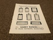 Aabk14 Antiques Advert 11x9 Harry Rixson Dunstable Period Mirrors