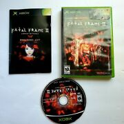 Fatal Frame 2 Crimson Butterfly Director's Cut Microsoft Xbox Complete