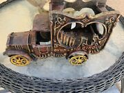 Vintage---cast Iron Overland Circus Wagon Antique Collectors Vehicle-not A Toy