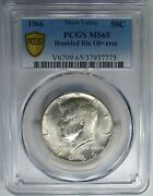 1966 50c Pcgs Ms65 Doubled Die Obv 40 Silver Kennedy Rare Circulation Strike
