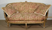 French Louis Xvi Gilded Settee Canape Circa 1890