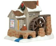 Dept 56 New England Jim Shore White Rose Mill 6003099 New Free Shipping