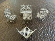 Antique Adrian Cooke Dollhouse Furniture 5 Pieces Patented Parlor No 77