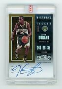 2017 Panini Contenders Kevin Durant Auto Historic Ticket Playoff /25 Sp Nets