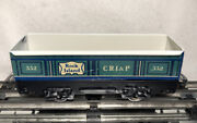 Pre War Marx Tinplate Refab Coffin 552 C.r.i.and P Gondola/ Green And White
