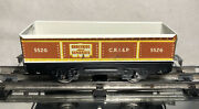 Pre War Marx Tinplate Refab Coffin 552g C.r.i.and P Gondola/ Brown And White
