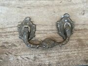 Collectible Hand Engraved Silver Plated Metal Vintage Drawer Handle/drawer Pull