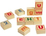 40 Alphabet Number And Symbol Building Blocks - Wooden Toys By Bajo