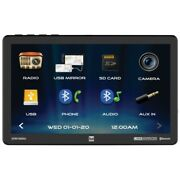 Dual 10.1 Screen Mechless Single Din With Mirroring Bluetooth Front Usbsdaux