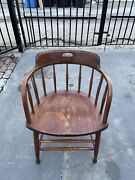 Antique Windsor By S. Bent And Bros Colonial Maple Wood Arm Chair