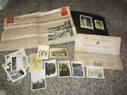 Ww2 Wwii 82nd Airborne Band Paratrooper D-day Photo Album Document Lot