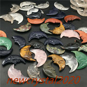 Wholesale A Lot Of Natural Quartz Crystal Moon Point Carved Crystal Skull