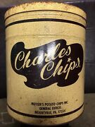 Vintage Charles Chip Can Large 48oz.size Can Musser's Potato Chips