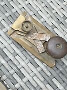 Antique 4 Brass And Rosewood Plane Woodwork Hand Tool Superb Quality