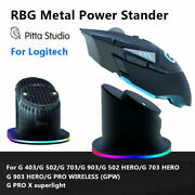 Mouse Charging Dock Power Stand All Metal Fit Logitech G Pro X G 403 502 703 903