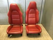 2013-2014 Porsche Boxster Front Seats Lh And Rh Pair Buckets Leather Electric