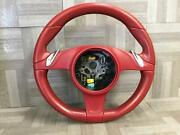 2014 Porsche Boxster Steering Wheel Red Ng W/paddle Shift Oem