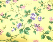 Longaberger Rare Retired Yellow Vine Floral Fabric-half Yard-new-shop Our Store