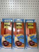 Hot Wheels Car And Track Pack W/ Purple And Orange Car 15 Feet Of Track And Connectors