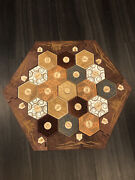 Stained Wood Catan Compatible Game Board 2-4 Player
