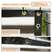 13ft Brown White Privacy Fence Screen Patio Yard 95 Blockage Mesh W/gromment