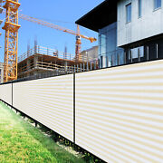 1ft Beige White Large Fence Privacy Screen 95 Blockage Mesh W/gromment