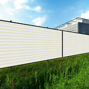 3ft Beige White Large Fence Privacy Screen 95 Blockage Mesh W/gromment