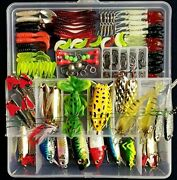 275pcs Fishing Lure Set Kit Soft And Hard Baits Tackle Bionic Bass For Beginners