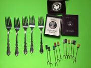 Wholesale Sterling Silver Fork Mix Lot With One Ounce Silver Coin