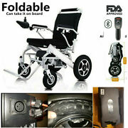 2021 With Bluetooth Remote Control Electric Power Wheelchair Folding Lightweight