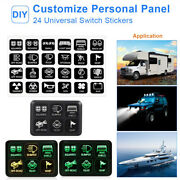 6-gang Switch Panel Relay Circuit Control System For Led Work Light Bar Pods New