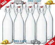 Clear Beer Bottles 16 Oz Easy Cap Glass Bottle With Stopper,home Brewing Bottles