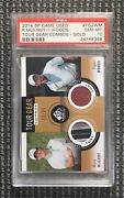 2014 Sp Game Used Tour Gear Gold Rory Mcilroy Tiger Woods Rc Patch /25 Psa 10
