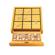 Wooden Sudoku Board Game With Drawer Wood Sudoku Puzzle Game Set Math Brain M7x8