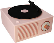 Old Fashioned Classic Style Bluetooth Speaker Pink Vinly Record Player Style Cut
