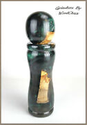 Pepper Mill Grinder Peppermill Maple Wood Resin Wooden Handmade See Video 550a