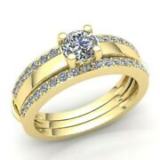 Genuine 2ct Round Cut Diamond Womens Bridal Solitaire Engagement Ring 14k Gold