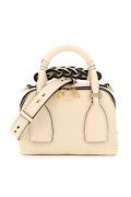 New Daria Small Leather Bowling Bag Chc20us361c62 Sweet Beige Authentic N
