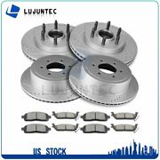 Front Rear Ceramic Pads And Rotors Brake Disc For Ford F-150 4.2l 2004-2008
