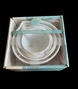 New Old Stock Martha Stewart Collection White Ceramic Measuring Cups Rare