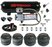 Airmaxxx 400 Air Compressor 3 Gallon Tank Paddle Switches Bags Hose And Fittings