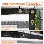 4ft Gray White Large Fence Privacy Screen 95 Blockage Mesh W/gromment