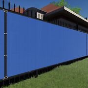 4ft Bluelarge Fence Privacy Screen 95 Blockage Mesh W/gromment