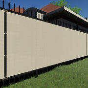 4ft Beigelarge Fence Privacy Screen 95 Blockage Mesh W/gromment