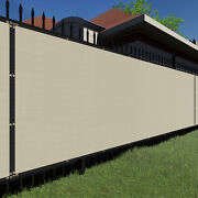 5ft Beigelarge Fence Privacy Screen 95 Blockage Mesh W/gromment