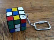 Vintage Miniature Rubiks Cube Keychain - Great Condition